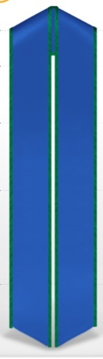 72inch royal blue with emerald green trim